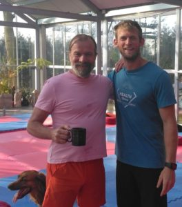 Luke WIlls with WIm Hof